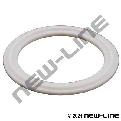 White PTFE Tri-Clamp Gasket