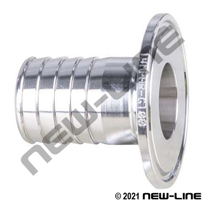 304 Stainless Steel Tri-Clamp Short Hose Stem