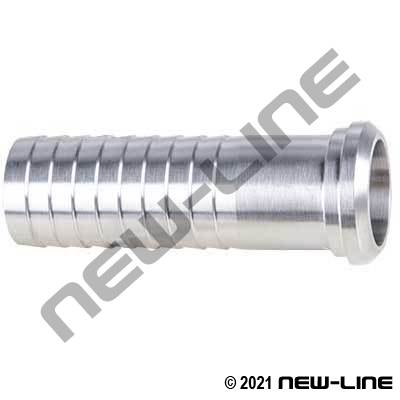 304 Stainless Steel Bevel Seat Hose Stem, Nut Sold Separate