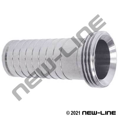 304 Stainless Steel Male Acme Sanitary Hose Stem