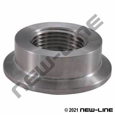304 Stainless Steel Tri-Clamp Cap with FNPT Port (Compact)