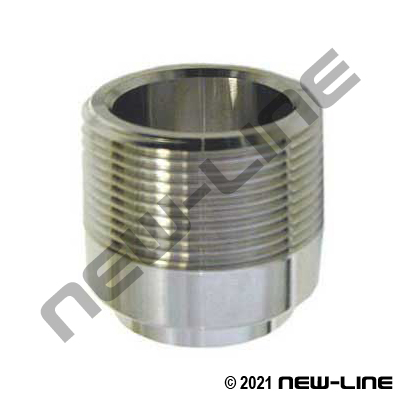 304 Stainless Steel Weld x Male NPT Adapter