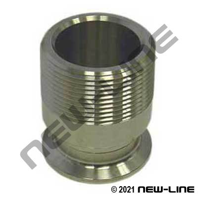 304 Stainless Steel Tri-Clamp x Male NPT Adapter