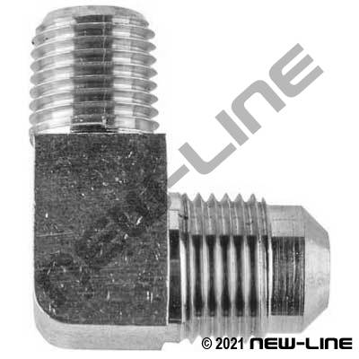 90° Elbow - Stainless Male SAE x Male NPT