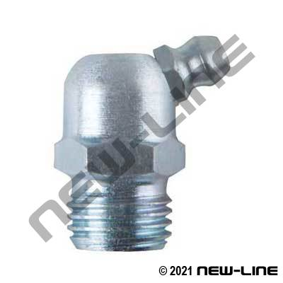 65° and 67.5° Grease Nipples - NPT, Metric, Fine Thread,BSPT