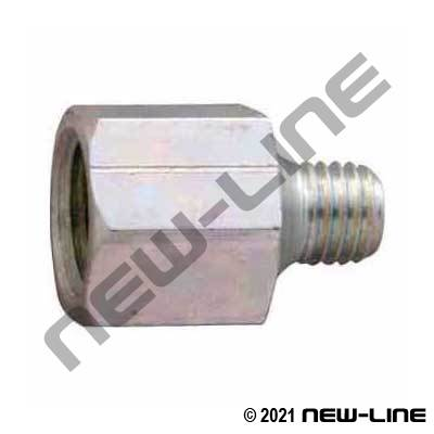 Female NPT X Male UNF Grease Thread Adapter