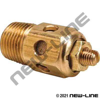 NPT Brass Breather Vent with Speed Controller