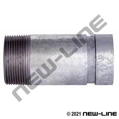 Grooved x Male NPT Galvanized Nipple