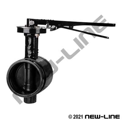 Grooved Butterfly Valve with Lever Handle & EPDM Seal