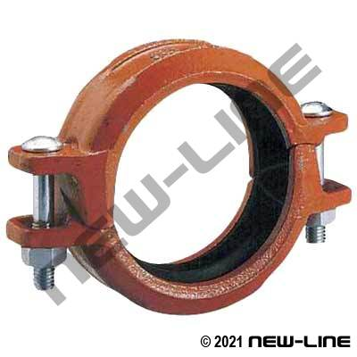 Grooved Rigid Coupling with Angle Pad
