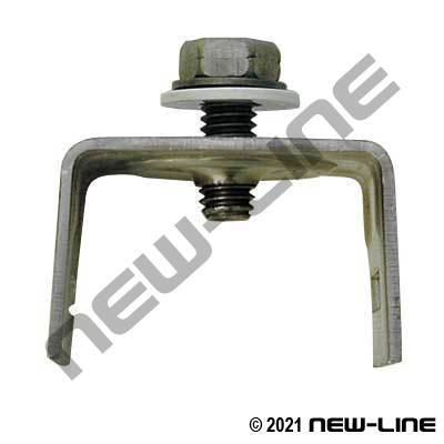 Straight Leg Sign Mount - Stainless Steel