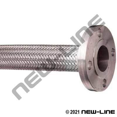 316 Stainless Steel Braided Hose with Floating Flange Ends