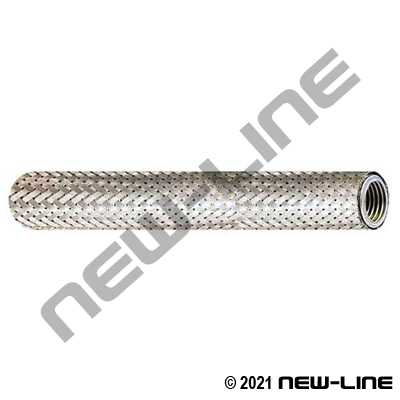 304 Stainless Steel Corrugated Helical Hose with 304 Stainless Steel Braid