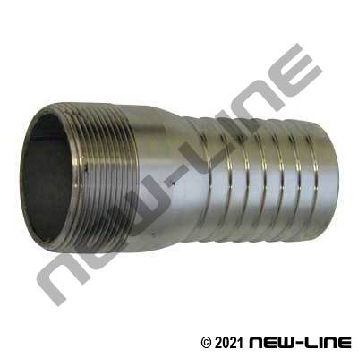 Stainless Steel Combination KC Hose Nipple