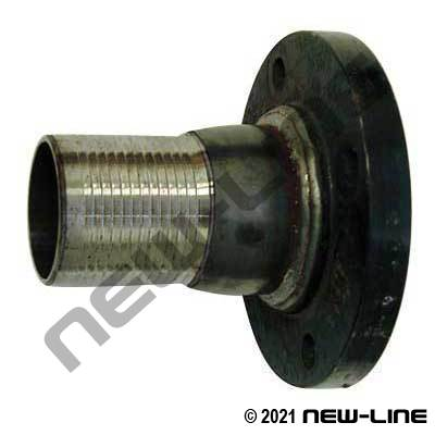 Black Steel Combination Nipple with Welded 150# Flange