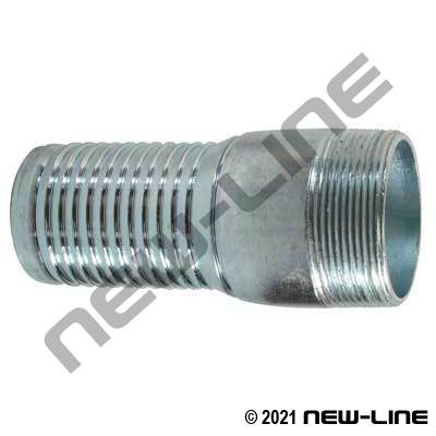 Crimp-Tech Galvanized NPT Hose Stem