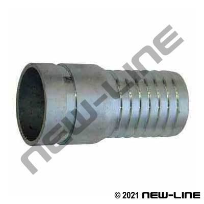 Plated Steel Grooved Combination KC Hose Nipple