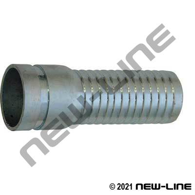 Plated X-Long Steel Grooved Combination KC Hose Nipple