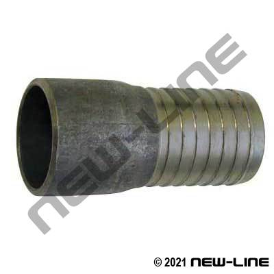 Black Beveled Combination Hose Nipple