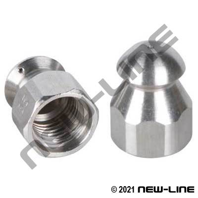Female NPT Back Jet Mole/Ram Sewer Nozzle