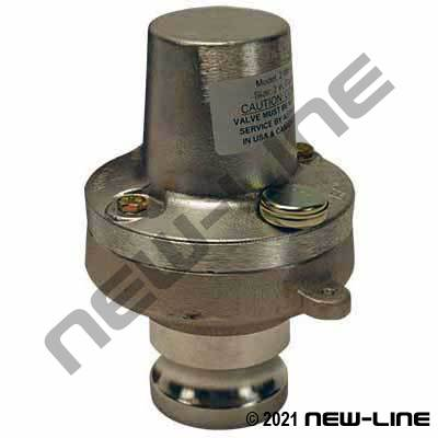 Male Camlock Air/Pressure Relief Valve
