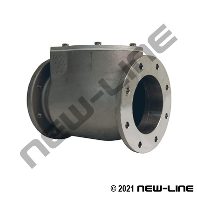 Round TTMA Flange Check Valve with Metal Flap