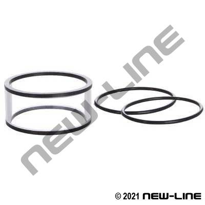 Replacement Sight Glass & Seals For /6200/6500 Elbow