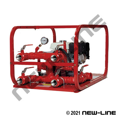 Gasoline Driven Test Pump for 1-4 Hoses to 450psi