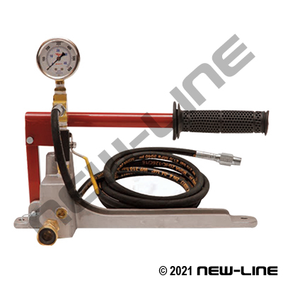 "Manual Hand Test Pump for 1/8-1""ID Hoses (max 1,500psi test)"