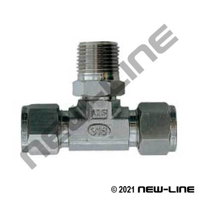 Dual-Lok Metric Tube x Male NPT Branch Tee