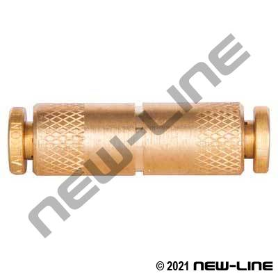 Brass Non-DOT Push-In Union Coupling