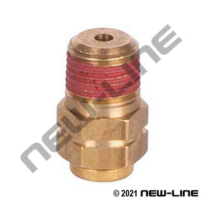 Brass Non-DOT Push-In Male NPT Adapter