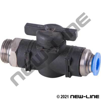 PTC Metric Tube X Male Thread Straight Ball Valve