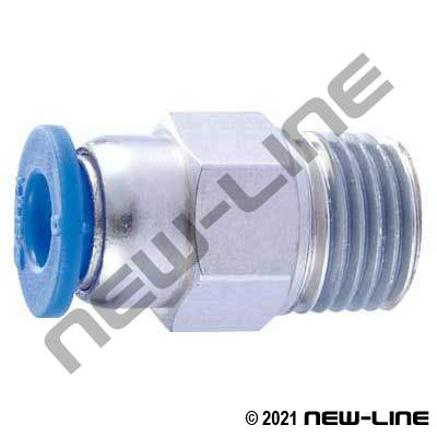PTC Metric Tube X Male Thread Straight Connector