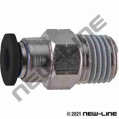 PTC Metric Tube X Male Thread Check Valve