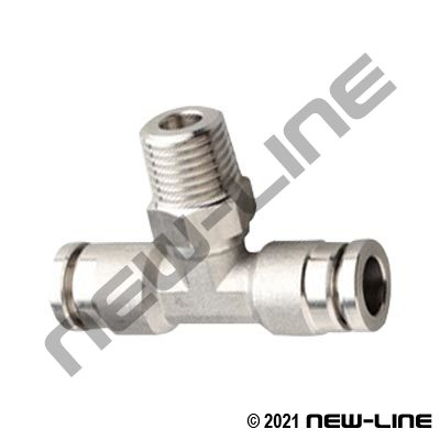 316 Stainless Steel Tube x Male NPT Male Branch Tee