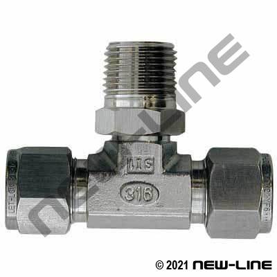 Dual-Lok Tube x Male NPT Branch TEE