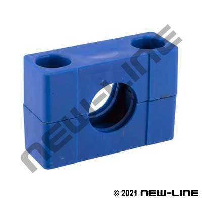 Blue Heavy Poly Insert Hex Body Bulkhead