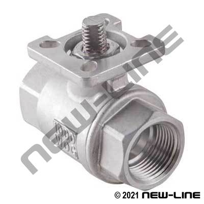 Stainless Full Port 1000 WOG Ball Valve/ISO Mounting Pad