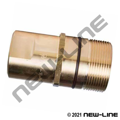 VFF Series Brass Nipple For Wing Coupler x Female NPT