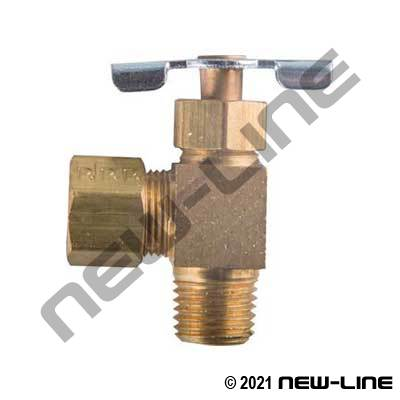 Compression x Male NPT Needle Valve - 90°