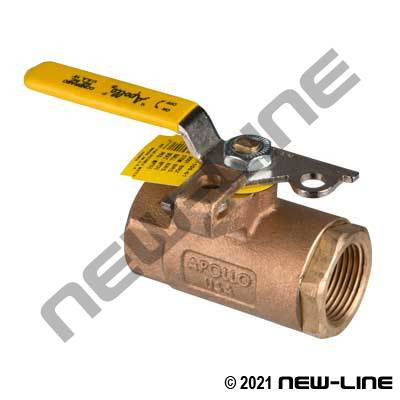 Apollo 600 PSI FP Ball Valve w/ Locking Handle and Drain
