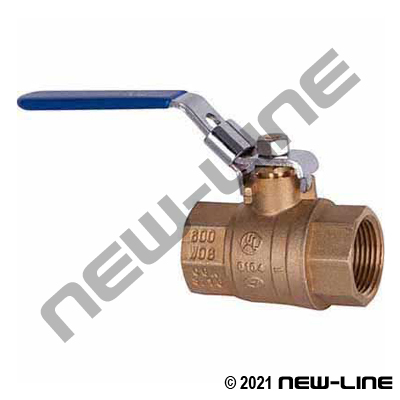 Brass Full Port Locking Ball Valve