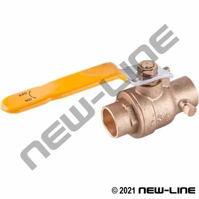 Solder/Sweat FP Brass Ball Valve/Bleeder(Stop & Drain/Waste)