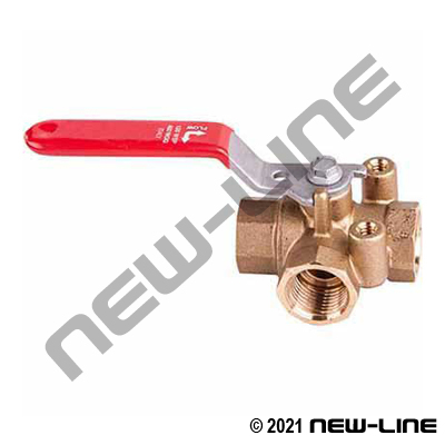 26df68cec63b Brass 3-Way Diverter Ball Valve with Mounting Pad (L-Flow)