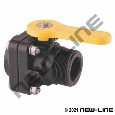 Female NPT x Male NPT Female Pipe Polypropylene Ball Valve