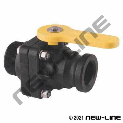 Male NPT x Part A Female Pipe Polypropylene Ball Valve