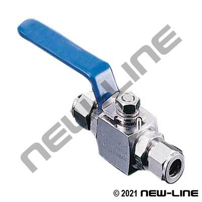 Dual-Lok Stainless High Compression Ball Valve - 10000 PSI