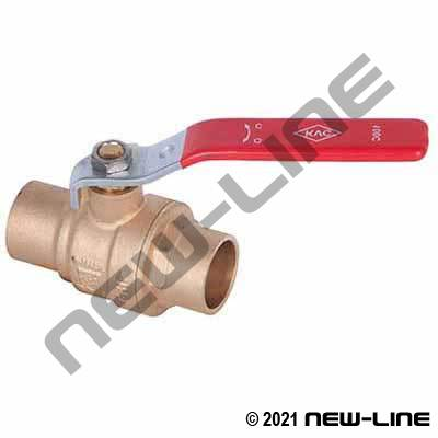 Solder / Sweat Full Port Brass Ball Valve