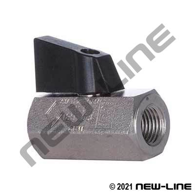 Nickel Plated Brass Female NPT CGA Ball Valve